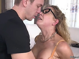 Mommy I'd Like To Fuck in slavery anal drilled with an increment of cummed