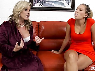 Cory Chase and Nikki Brooks in Mummy vs Daughter Lesbians