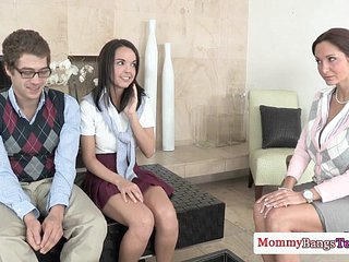 Nympho teacher MILF fucks