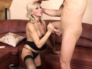 Betti Cane masturbates and takes on Sting's cock